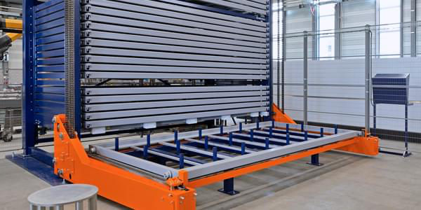 Sheet metal storage racks